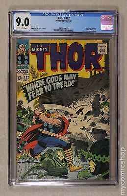Thor (1962-1996 1st Series Journey Into Mystery) #132 CGC 9.0 1463109020