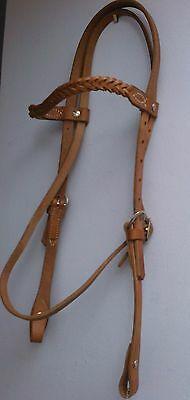 5 Plait Browband Leather Headstalls
