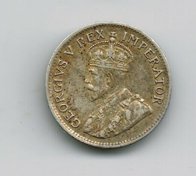 1929 South Africa threepence 3d silver coin - 1.4g