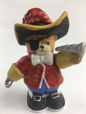 Lucy and Me Enesco Vintage Bear Figurine  Pirate 1990