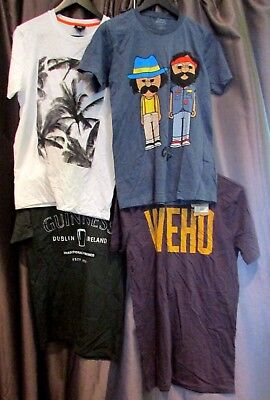 Lot Of 4 New Men Small Tshirts - Cheech & Chong, Mossimo, Guinness & Local Pride