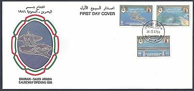 Bahrain 1976 Concorde S/s On Fdc & 1986 Bahrain Causeway Set On Fdc