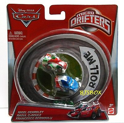 Disney Cars Micro Drifters 3 Pack Racers Gearsley Caroule Bernoulli New Toy