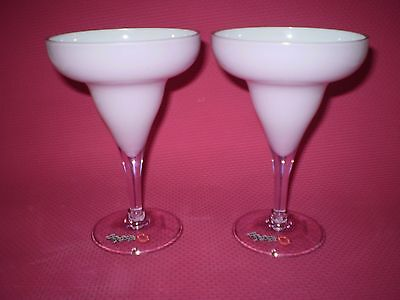 2 Tall Unused Betty Boop Martini Or Cocktail Glasses