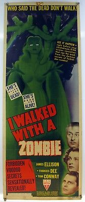 I WALKED WITH A ZOMBIE 14x36 Insert VAL LEWTON TOM CONWAY HORROR RARE STYLE