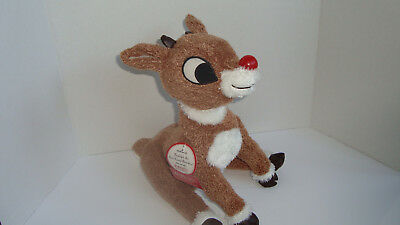 NEW Hallmark Rudolph The Red Nose Reindeer Musical Plush Stuffed Animal Lights!