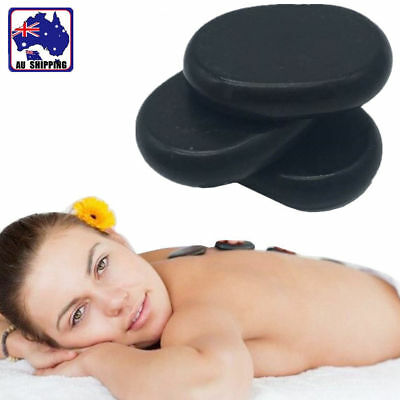 10pcs Hot Stone Body Massage Basalt Rock SPA Oiled Massager 7.5x6cm HCFI89086x10