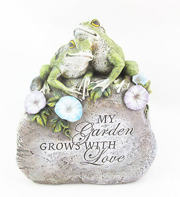 Frog Garden Stone Statue - Polyresin Approx 23cm High 1 Only