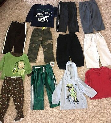 Boys Size 18 Month Clothing LOT Pants, Long sleeves, Pajamas Carter's
