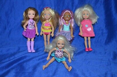 Barbie Sister 'Chelsea' Dolls - Lot of 5 -