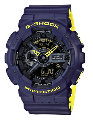 Brand new Casio G-Shock GA110LN-2A Anti-Magnetic Navy/Yellow Resin Watch