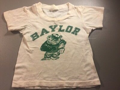 Vintage 60's Cotton Small Child's Baylor Bears T Shirt S