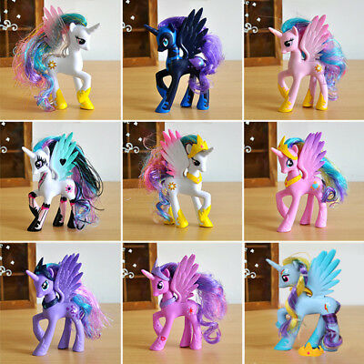 14cm My Little Pony Luna Nighemare Moon Celestia Princess Rainbow Kid Toy