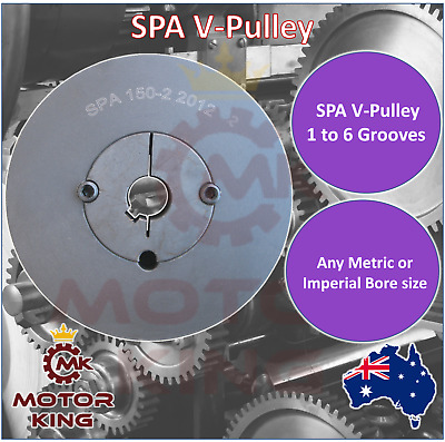 SPA V Belt Pulley with taper lock to suit 63mm to 315mm Diameter