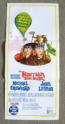 How I Won The War ~ John Lennon ~ Original 1967 Australian Daybill Movie Poster