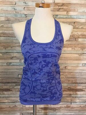 Lululemon Women's Blue Running Yoga Fitness Racerback Tank Top Size 6(A)