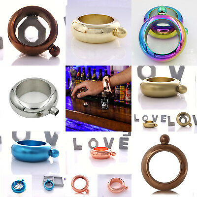 3.5oz Creative Hidden Booze Smuggle Bracelet Wine Pot Bangle Flask Bar Jewellery