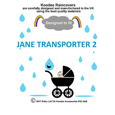 koodee uk Raincover To fit JANE TRANSPORTER 2 CARRYCOT BNIP