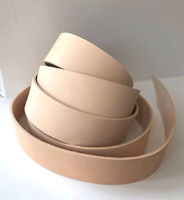 190 cm NATURAL VEG TAN LEATHER STRAP BELT BLANK STRIP 2.5 mm thick various width