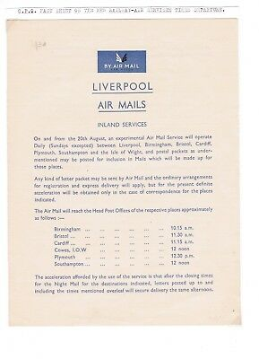 GPO Fact Sheet on the new Railway Air Services Times Departure