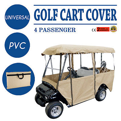 4 Passenger Golf Cart Cover Driving Enclosure Best Visibility Polyester PVC