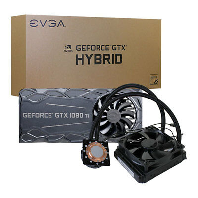 EVGA GeForce GTX 1080 Ti FTW3 HYBRID Waterblock Cooler, All-In-One, 120mm Rad. f