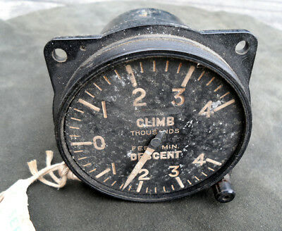 Spitfire, Hurricane, Lancaster etc climb and descent gauge as found condition