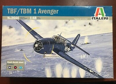1:48 Italeri TBF/TBM 1 Avenger Aircraft Platsic-Kit ohne/no Decals! US/USAF WWII