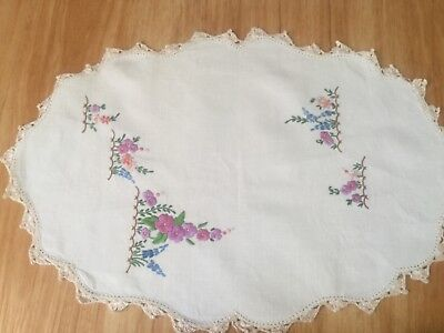 Pretty floral hand embroidered foiley