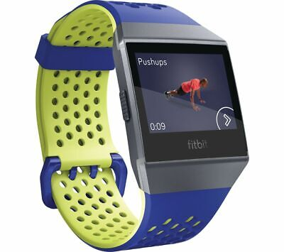 Fitbit Ionic Accessory Sport Band - Blue/Yellow, Large
