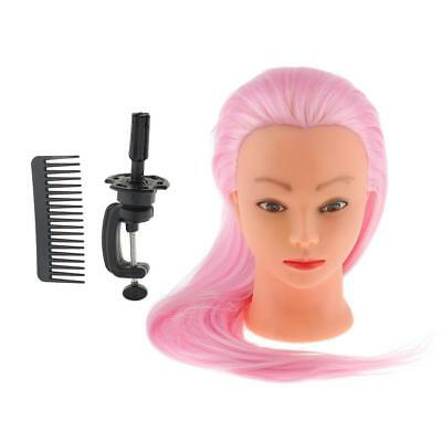 Hair Dressing Cosmetology Mannequin Practice Head + Desk Table Clamp Holder