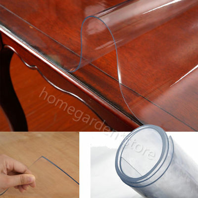 Plastic Table Cover Desk Roll Sheet Protection 2mm Transparent PVC Tablecloth