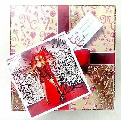 """Mariah Carey, Autographed Special Ed """"merry Christmas Ii You"""" Collector Gift Box"""