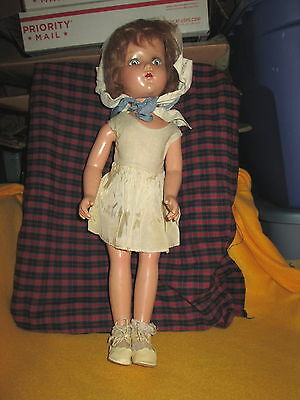 "Antique Doll with Original Clothes ""Nancy Lee"" ARRANBEE,20"" Letter R on Neck"