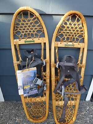 "Brand New Tubbs Traditional Series Bear Paw 30"" Wood Snowshoes Wood NWT"