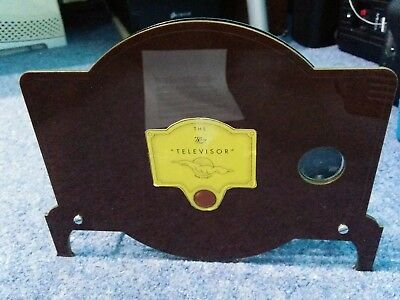 Baird TELEVISOR working 30 line replica with CD of 30 line 'video' and CD player