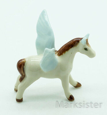 Figurine Animal Ceramic Miniature Statue Pegasus