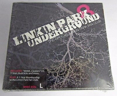 Brand New! Linkin Park Underground 8 (L Shirt Size) Fan Club Package CD + More!