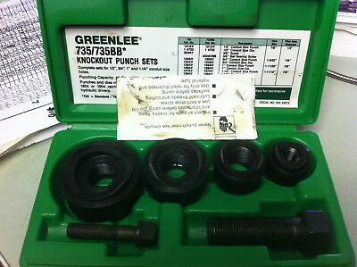 Greenlee 735 735BB - Ball Bearing - Knockout Punch Set