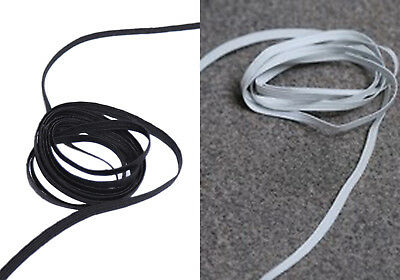 Flat 6 Cord Elastic Black/White For Waistbands Cuff Sewing Dressmaking 5mm Wide