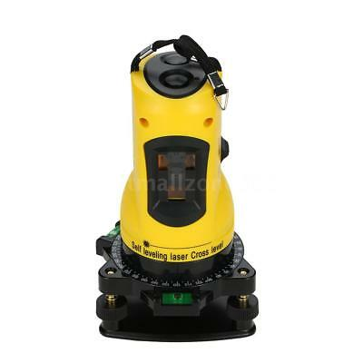 2 Lines Cross Laser Level With 360 Rotary & Adjustable Base For Wall Charts U7W5