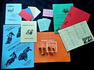 Vintage 1980's Speedway Scene 2 Board Game Complete and Unused RARE