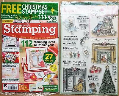 Creative Stamping Magazine Issue 48 FREE Seasonal clear stamps