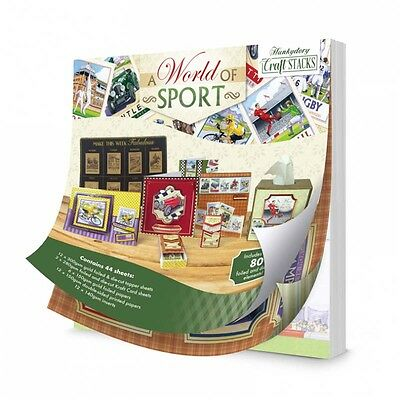 Hunkydory Craft Stacks - A World of Sport - over 160 foiled and diecut elements