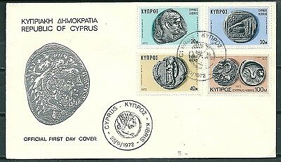 Cyprus 1972 Fdc Ancient Coins -Cag 220817