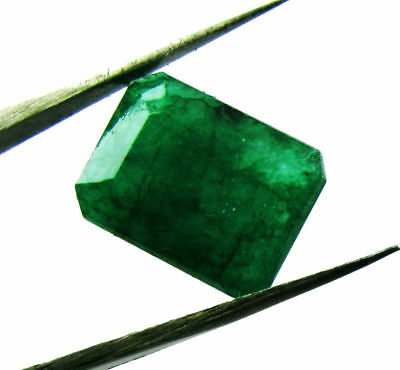 7.45cts. Natural Untreated Emerald Cut Loose Colombian Emerald Gemstone Collect