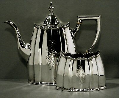 Roger Williams Sterling Tea Set   c1900             * Listed 1900 - 1903 *