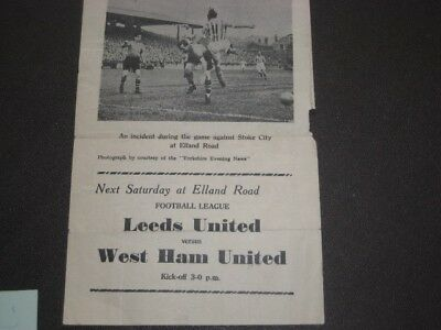 Leeds United Memorabilia Footballer signatures from the late 1950s early 1960s