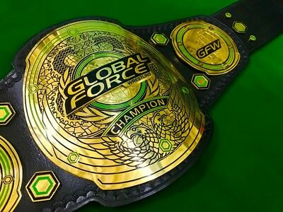 Global Force Wrestling Championship Replica Belt In Thick Brass Plates!!
