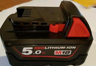 GENUINE MILWAUKEE  M18 18v 5.0AH BATTERY RED LITHIUM-ION BRAND NEW